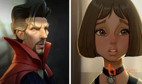 Khi diễn viên điện ảnh hóa thành nhân vật hoạt hình