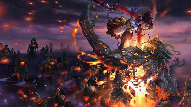 Top 10 Thế giới Anime bị quái vật tấn công tiêu diệt.