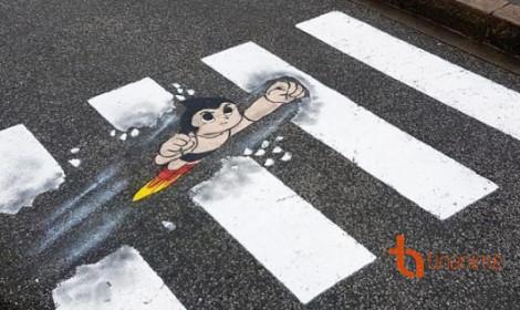 Vạch sang đường đầy sáng tạo