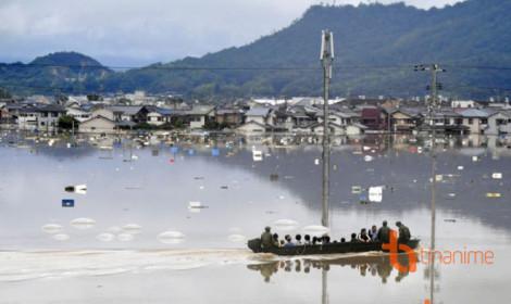 Mưa lũ dữ dội ở Nhật Bản, hàng triệu người phải sơ tán!