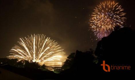 Lễ hội pháo hoa trên nước ở Miyajima