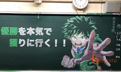 Bức tranh trên bảng đen của cô giáo Nhật Bản được ca ngợi