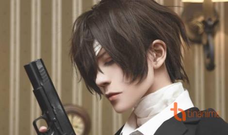 Bộ ảnh cosplay Dazai Osamu của Hakken - Em có muốn tự tử cùng anh không?