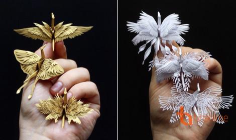 Hạc giấy được thiết kế thời trang - Đẹp hết hồn!