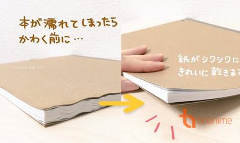 """Cách người Nhật """"biến"""" sách ướt thành sách khô, thẳng, đẹp như mới"""