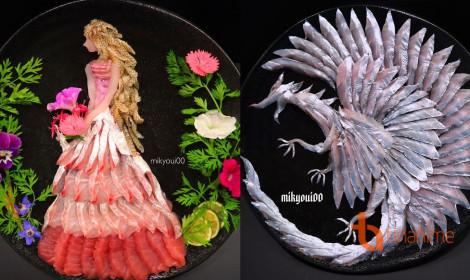 Nghệ thuật từ thịt cá sống