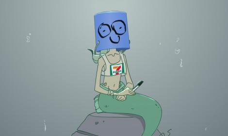 [Artwork] Câu chuyện về nàng tiên cá và rác thải dưới đáy biển!