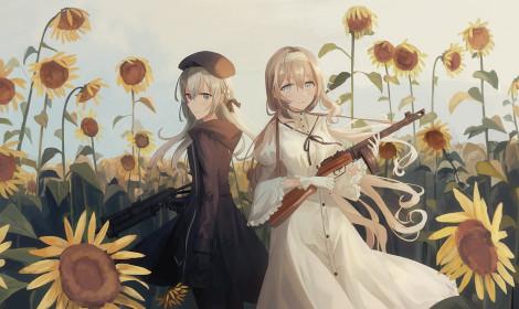 [Artwork] Em và hoa hướng dương rực lửa!