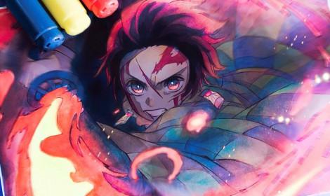 """[Artwork] Cùng chiêm ngưỡng tuyệt tác """"Kimetsu no Yaiba""""!"""
