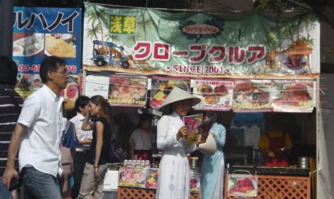 Hình ảnh nón lá, áo dài Việt Nam ở đất nước mặt trời mọc!