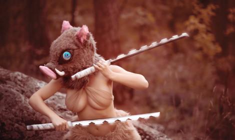 Cosplay Inosuke cực chất với phiên bản nữ!