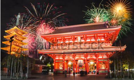 Các con phố ở Tokyo, Nhật Bản sôi động đón năm mới 2020!