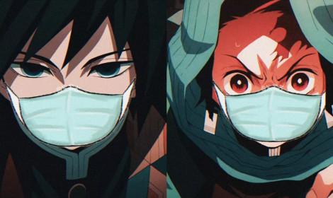 Các nhân vật trong Kimetsu no Yaiba đổ xô đeo khẩu trang vì virus Corona! | (Phần 2)