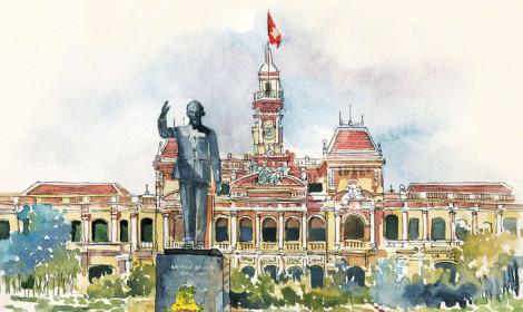 Nhìn lại Thành phố mang tên Bác với góc nhìn tranh vẽ! - 130 năm ngày sinh Chủ tịch Hồ Chí Minh!