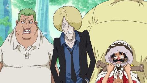 Lời đe dọa của Luffy giả.